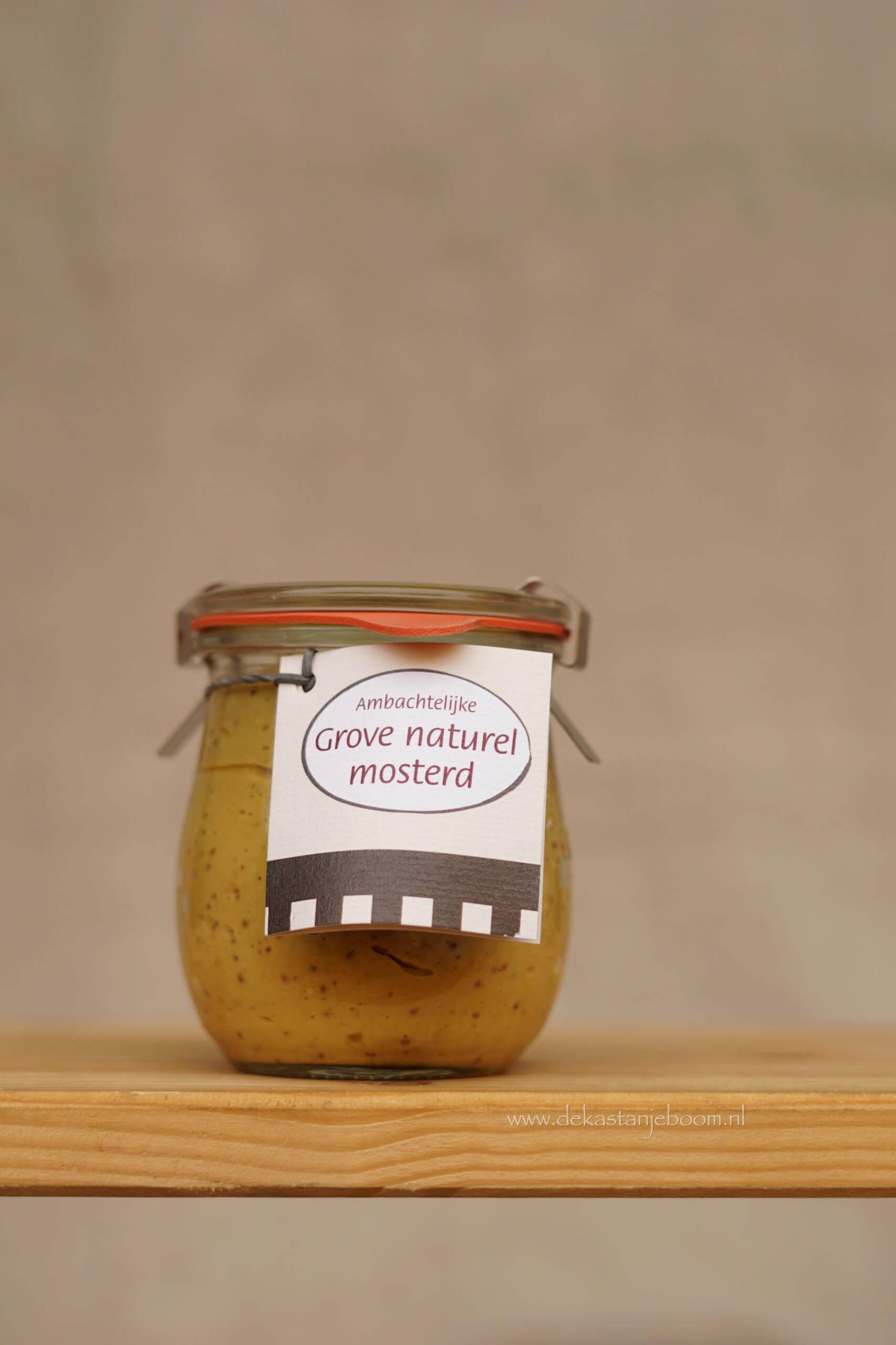 Ambachtelijke grove naturel mosterd