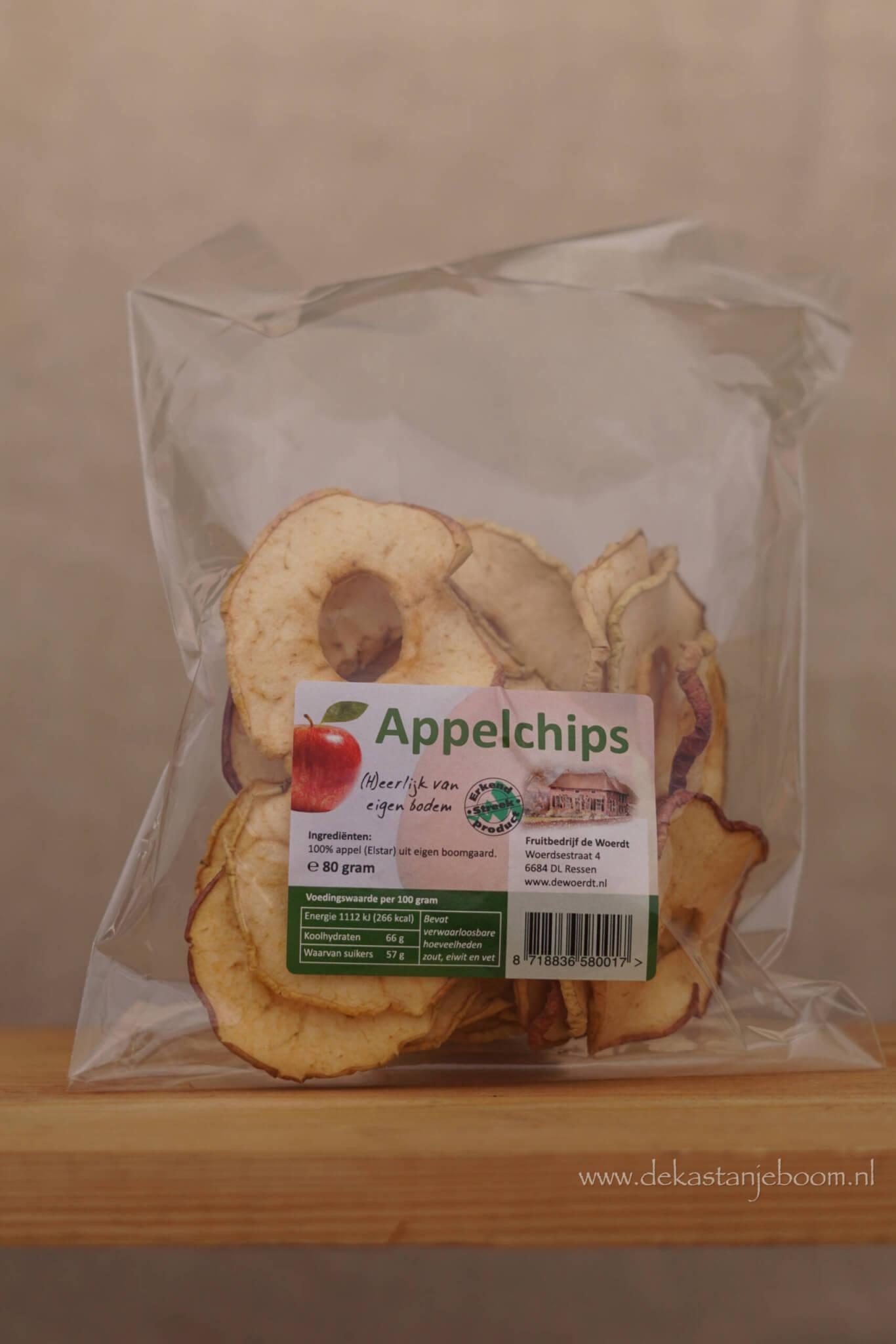 Appelchips 80 gram
