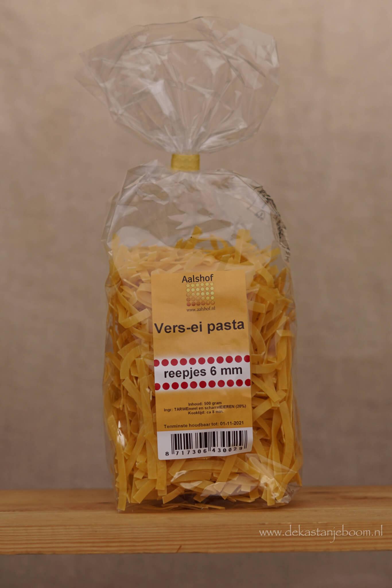 Vers ei pasta reepjes 6mm