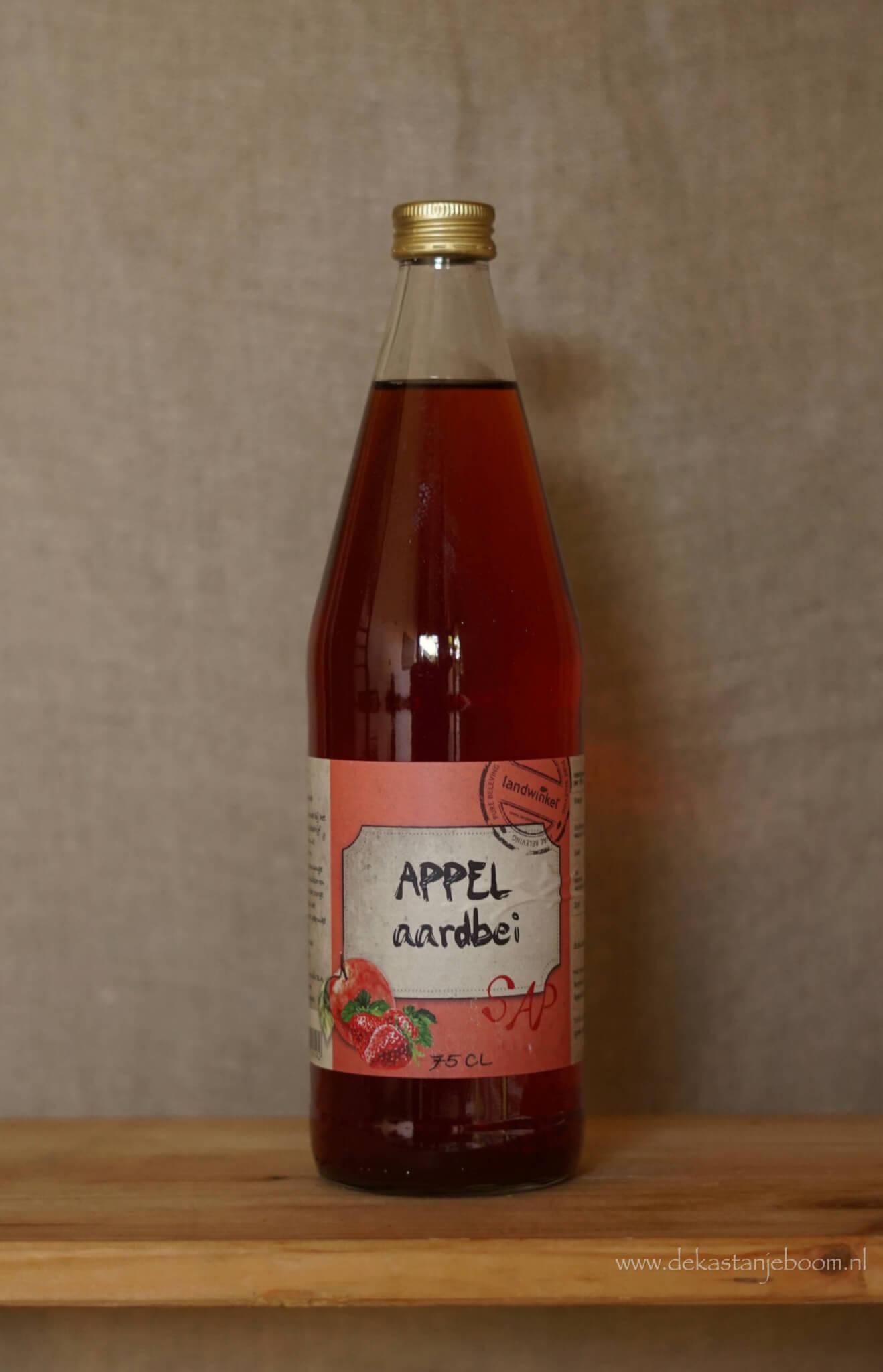 Appel aardbei sap