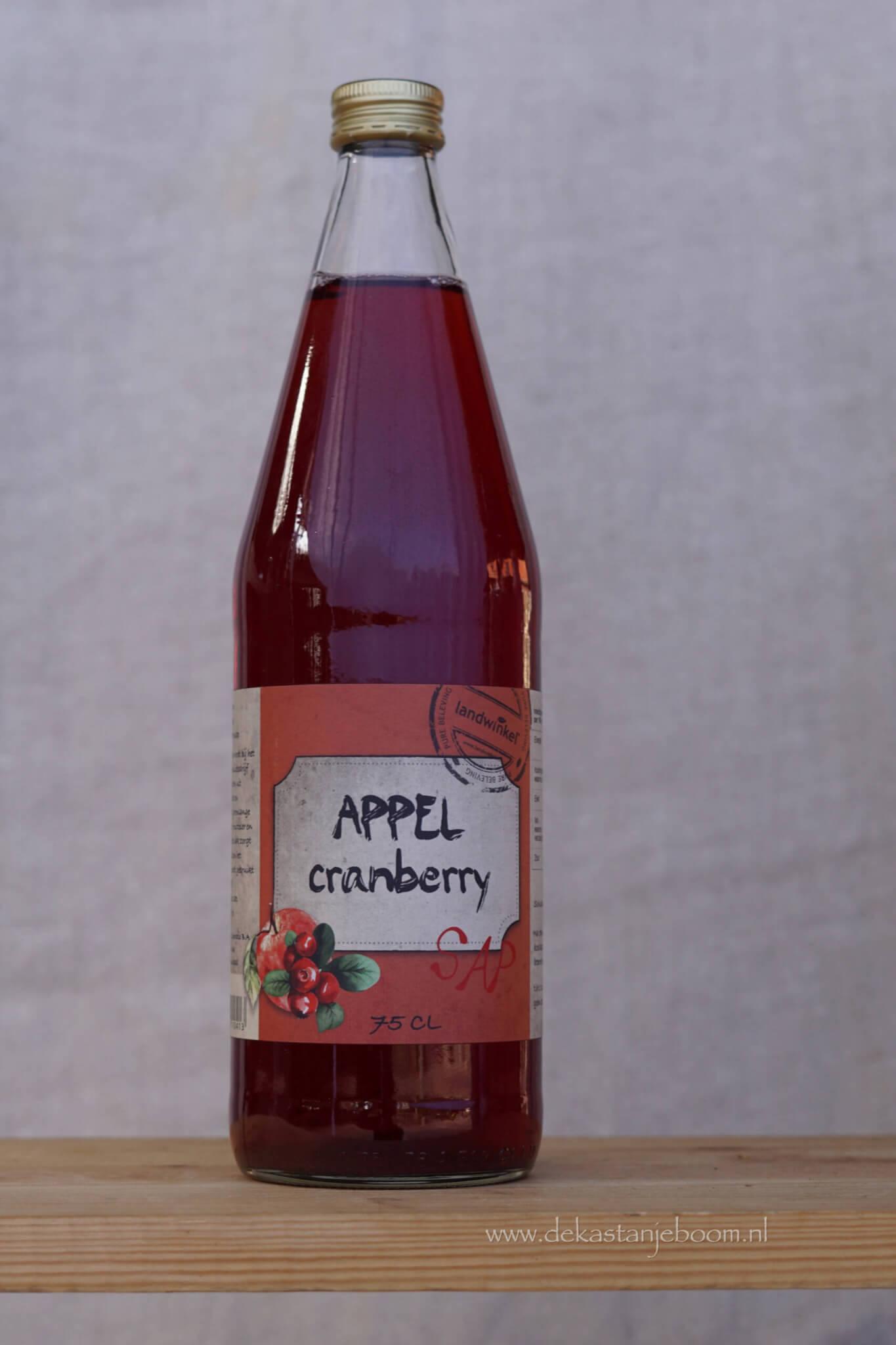 Appel cranberry sap 75cl