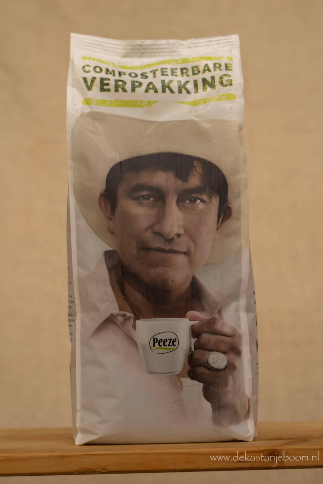 Peeze koffiebonen man