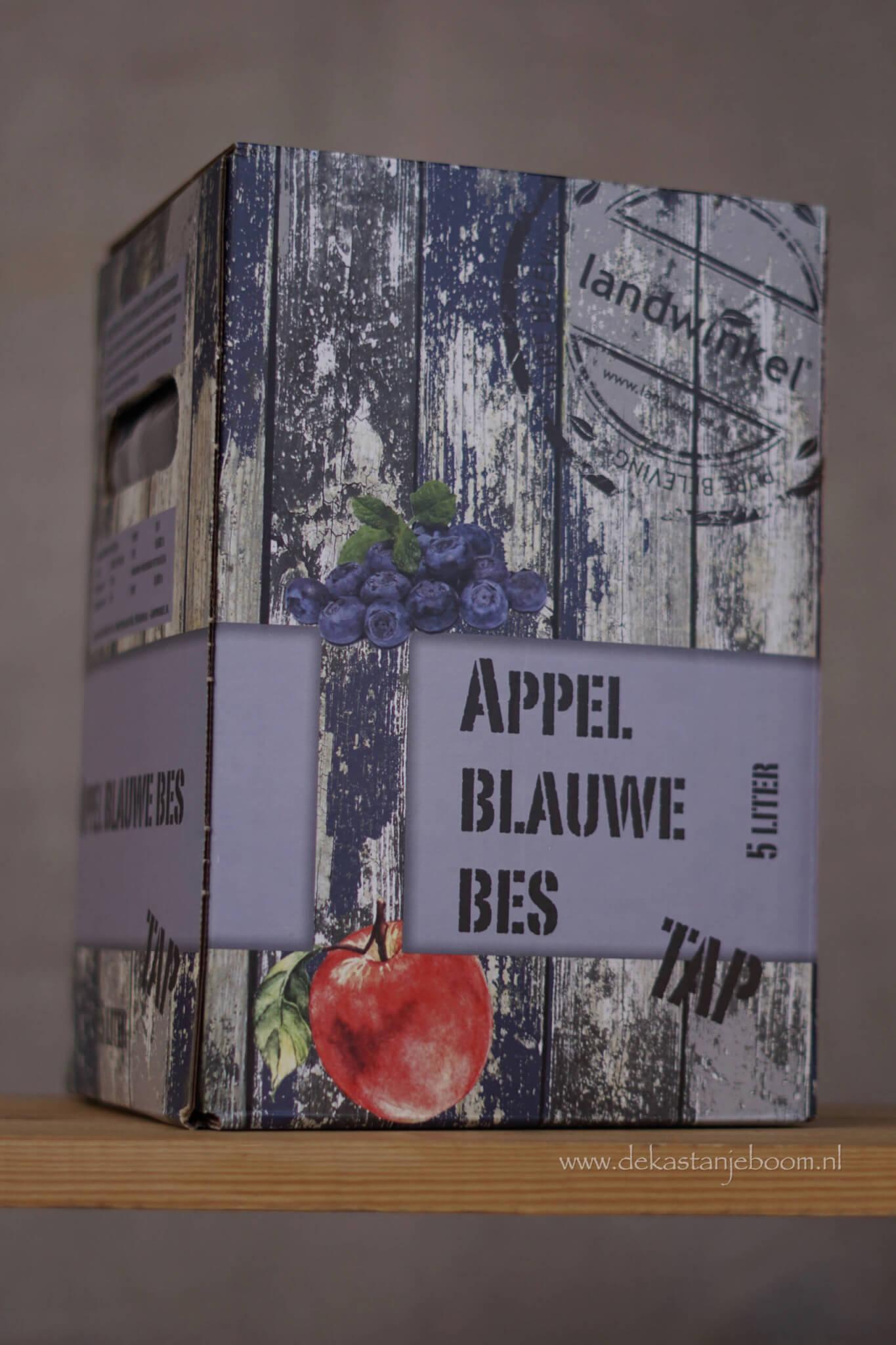Tap appel blauwe bes 5 liter